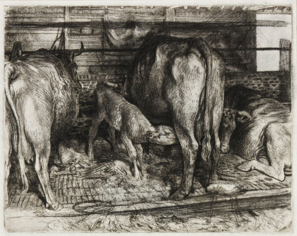 LACK Henry Martyn R.E. (1909-1979) - The Cow Byre.