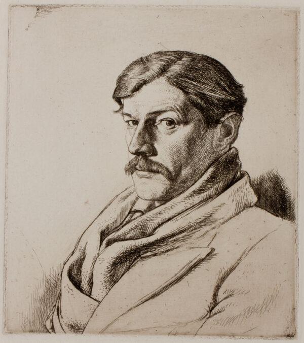 LACK Henry Martyn R.E. (1909-1979) - Self-portrait.