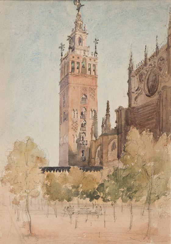 CRICHTON-STUART Lady James (Nee Hannah Tighe) (1800-1872) - 'The Giralda, Seville'.