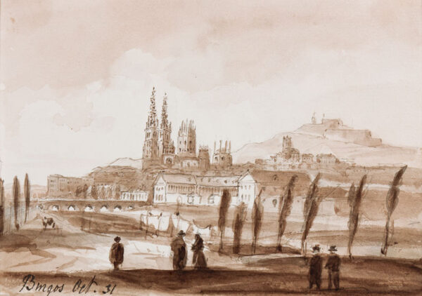 CRICHTON-STUART Lady James (Nee Hannah Tighe) (1800-1872) - 'Burgos, Oct 31'.