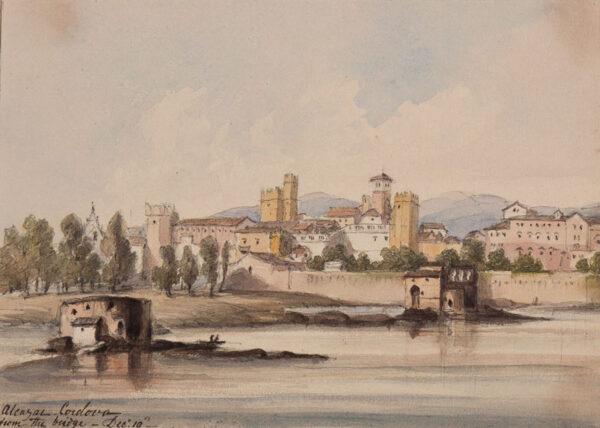 CRICHTON-STUART Lady James (Nee Hannah Tighe) (1800-1872) - 'Alcazar, Cordova from the bridge, December 19'.