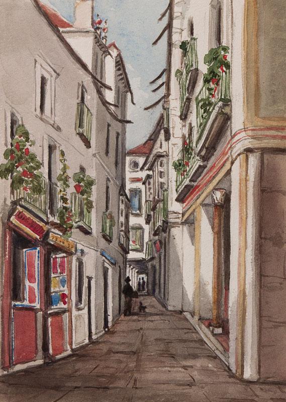 CRICHTON-STUART Lady James (Nee Hannah Tighe) (1800-1872) - 'Street in Seville'.