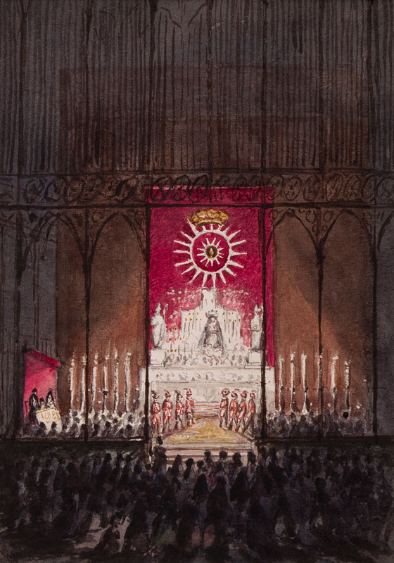 CRICHTON-STUART Lady James (Nee Hannah Tighe) (1800-1872) - 'Midnight Mass in the Cathedral.
