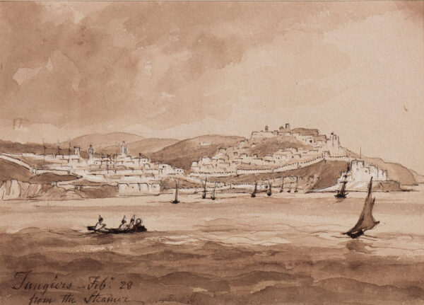 CRICHTON-STUART Lady James (Nee Hannah Tighe) (1800-1872) - 'Tangiers from the Steamer, Feb 28'.