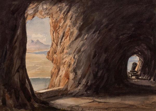 CRICHTON-STUART Lady James (Nee Hannah Tighe) (1800-1872) - 'Gallery, Gibraltar, March 7'.