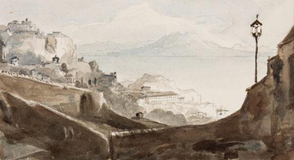 CRICHTON-STUART Lady James (Nee Hannah Tighe) (1800-1872) - 'Ape's Hill – from Gibraltar'.