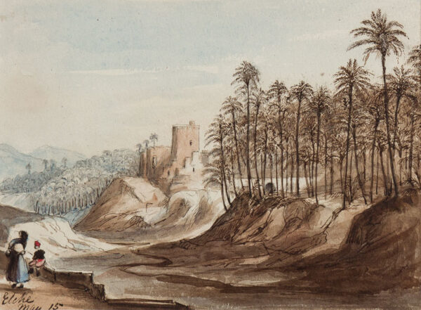 CRICHTON-STUART Lady James (Nee Hannah Tighe) (1800-1872) - 'Elche, May 15'.