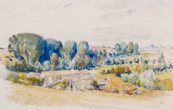 LAMB Henry R.A. (1883-1960) - 'French farm'.