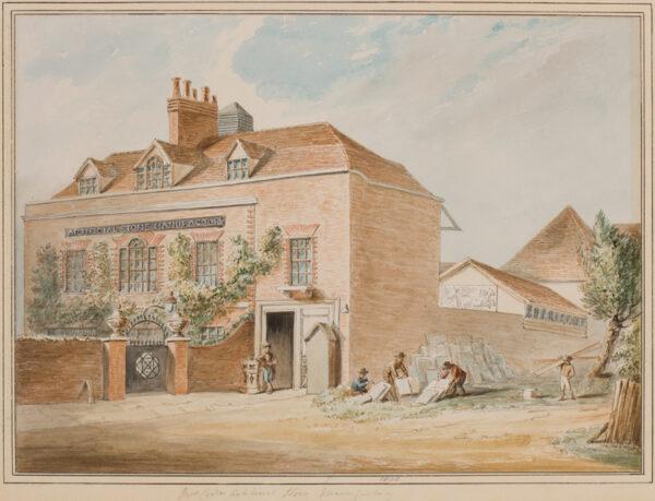 LAMBETH (subject) Anon. 1800. - 'Mrs Coade's Artificial Stone Manufactory'.