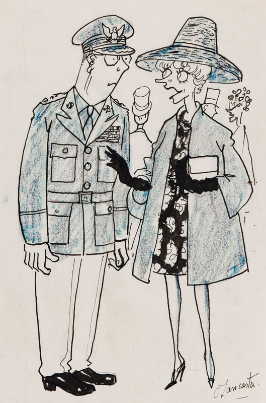 """LANCASTER Sir Osbert (1908-1986) - Maudie Littlehampton; """"Excuse my asking, General, but just how many more of the Dulles brothers are still happily with us?""""."""