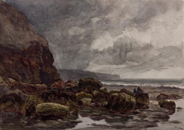 LAW David (1831-1901) - 'On the Yorkshire Coast'.