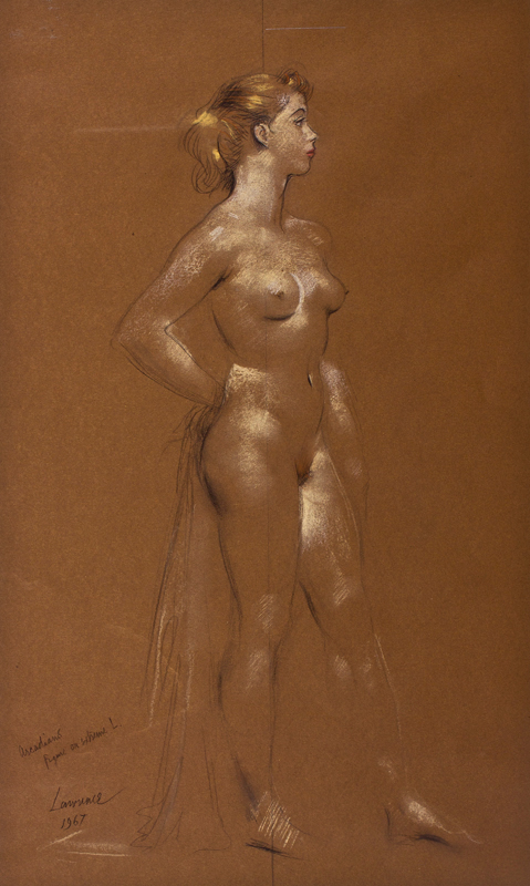 LAWRENCE Alfred Kingsley (1893-1975) - Figure study for 'The Arcadians'.