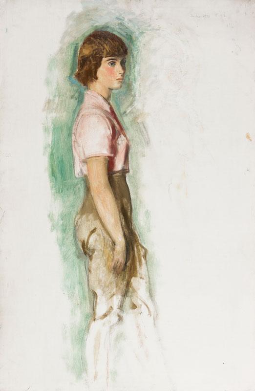 LAWRENCE Alfred Kingsley R.A. (1893-1975) - Portrait study.
