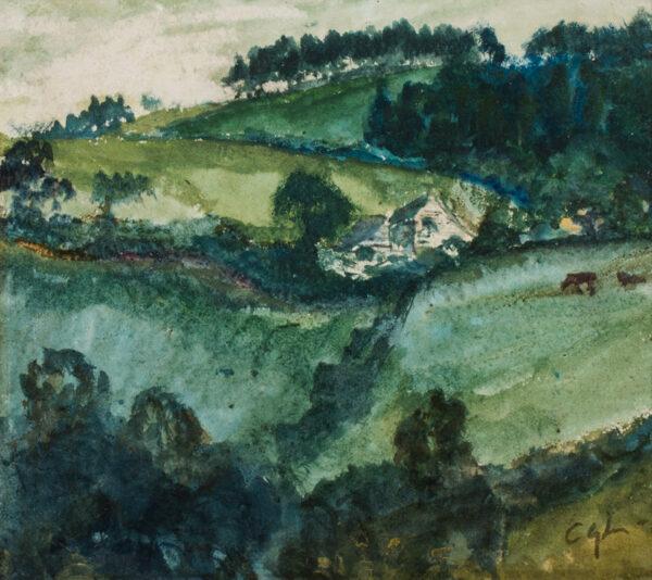 LAWSON Cecil Gordon (1851-1882) - Yorkshire landscape.