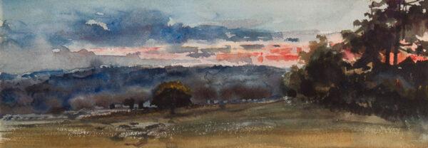 LAWSON Cecil Gordon (1851-1882) - Sunset over parkland.