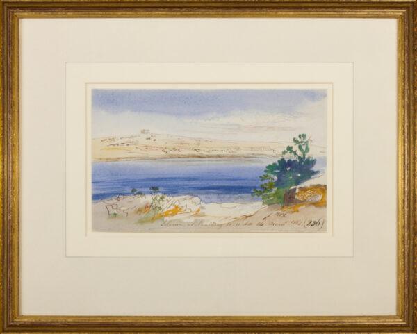 LEAR Edward (1812-1888) - Malta; 'St Paul's Bay .