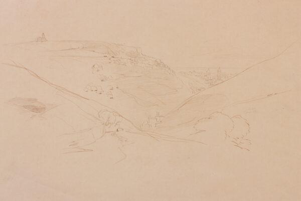 LEAR Edward (1812-1888) - Sicily: 'Modica, 8 June 1847'.