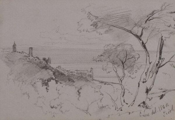 LEAR Edward (1812-1888) - Italy 'Tivoli'.