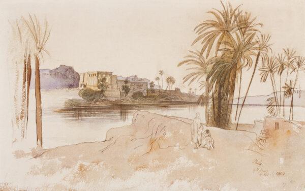 LEAR Edward (1812-1888) - 'Philae'.