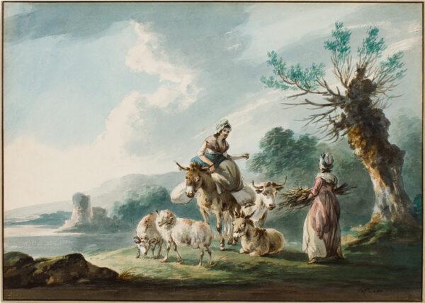 LA CAVE Peter (fl.1769-1816) - The Meeting.