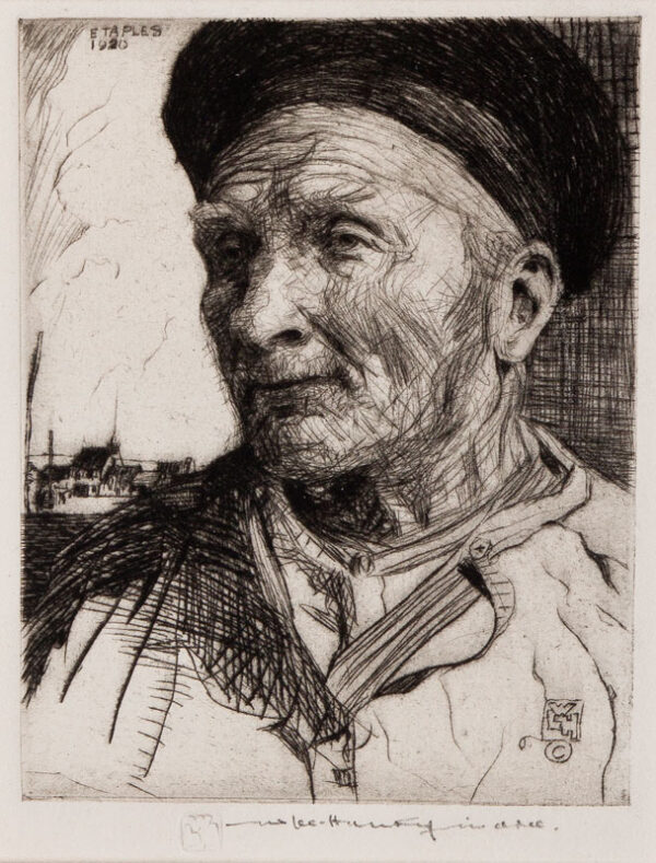 LEE-HANKEY William R.E. R.W.S. (1869-1952) - 'Pere Dachicourt, Etaples'.