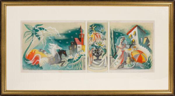 LEHMANN Olga (1912-2001) - 'Mural design for a showroom in a store'.