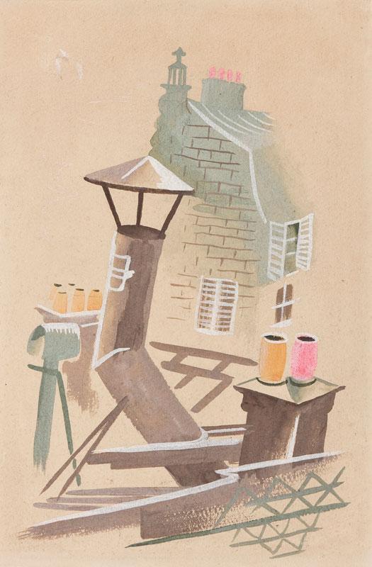 LEHMANN Olga (1912-2001) - Rooftops.