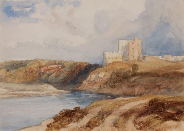 LEITCH William Leighton V.P.R.I. (1804-1883) - Northumberland: Norham Castle.