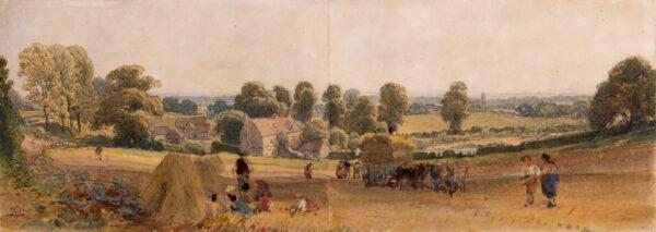 LEITCH William Leighton (1804-1883) - Gathering the harvest.
