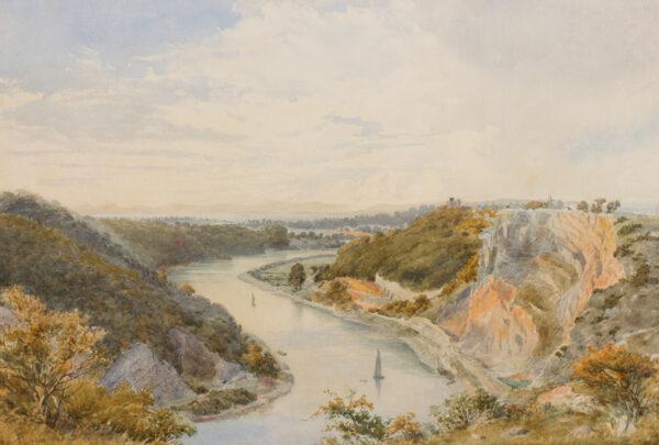 LEONARD Edward (Edouard) A. (fl.1870-1930) - 'The Avon from Clifton Down'.