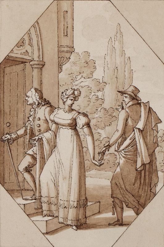 LEROY Denis-Sebastian (1770-1832) - The Assignation.