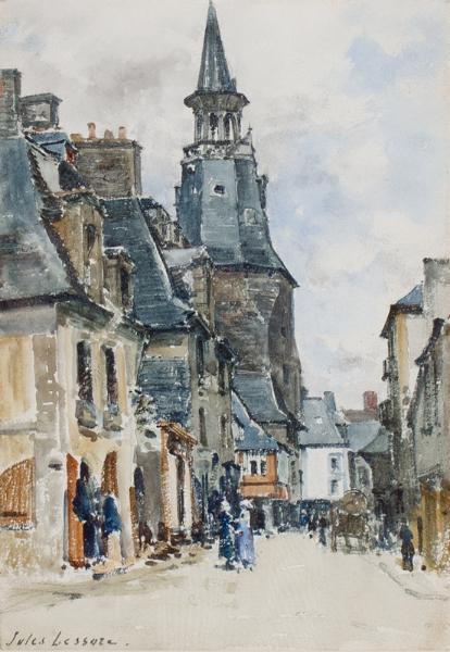 LESSORE Jules (1849-1891) - 'Honfleur'.
