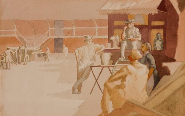 LESSORE Therese (1884-1945) - 'Tea Break'.