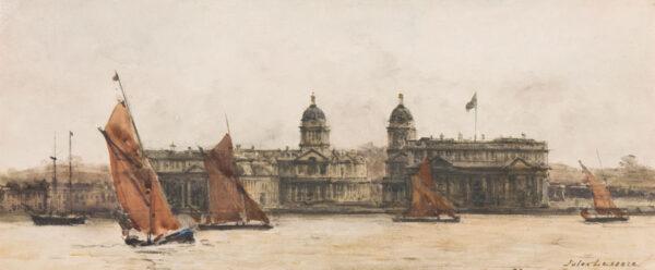 LESSORE Jules (1849-1892) - 'Greenwich'.