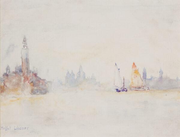 LINDNER Moffat R.W.S. N.E.A.C. (1852-1949) - Venice, the Bacino.