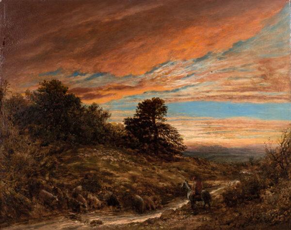 LINNELL John (1792-1882) - The Shepherd at dusk.