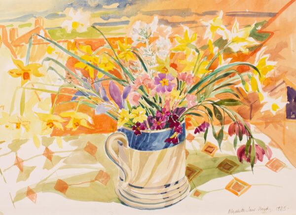 LLOYD Elizabeth Jane (1928-1995) - Spring flowers.