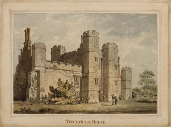 LOCKER Edward Hawke (1777-1849) - Hampshire; Titchfield Abbey, Wriothesley's gatehouse.