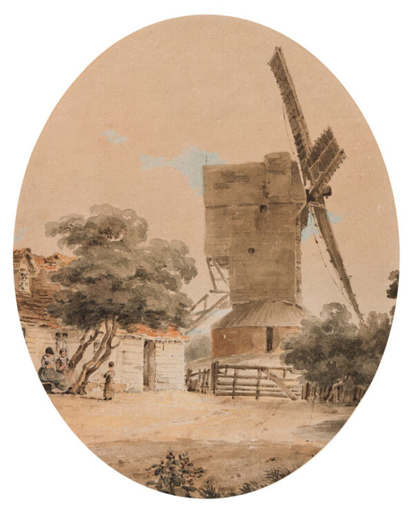 LONG Amelia, Lady Farnborough (1772-1837) - Pencil, ink and watercolour.