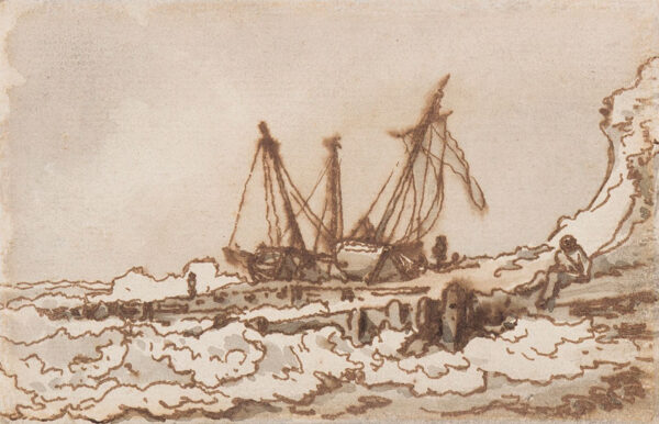 LOUTHERBOURG Philip James De (1740-1812) - Fishing boats ashore.
