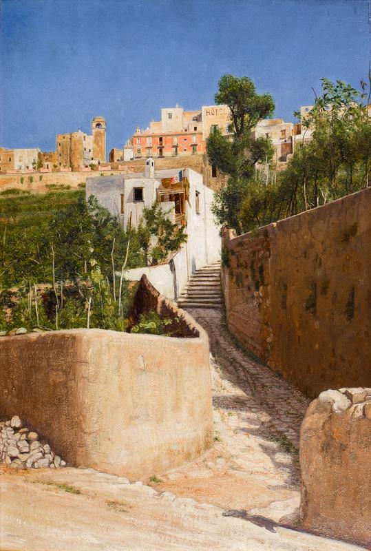 LUCAS Edward George Handel (1861-1936) - 'The stony steps to Capri'.