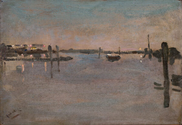 LUDOVICI Albert R.B.A. (1852-1932) - The Thames at dusk.