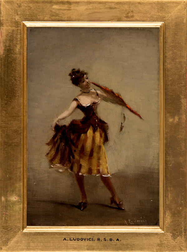 LUDOVICI Albert Jnr (1852-1932) - A fan dancer.