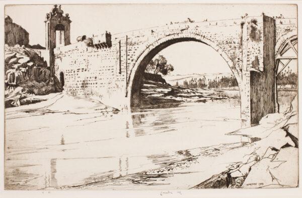LUMSDEN Ernest R.S.A. (1883-1948) - 'The Alcantara Bridge, Toledo'.
