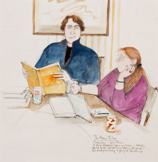 MACARTNEY-SNAPE Sue (b.1960) - 'The Home Tutor / Oxbridge – just down /A very superior young man – totally / bored with what he's doing because / he's really writing a play or something'.