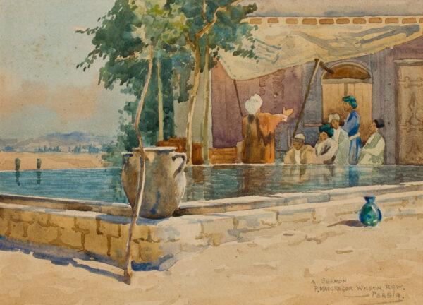 MACGREGOR WILSON Peter R.S.W. (1856-1928) - Iran (Persia), 'A sermon at a caravanserai'.