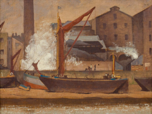 MACLAGAN Philip (1901-1972) - 'The Thames at Hammersmith' Oil on canvas board.