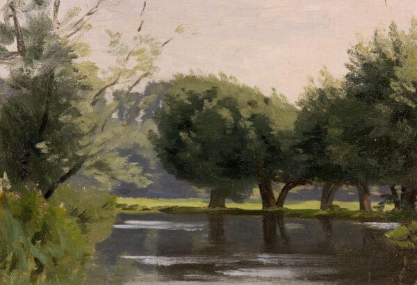 MACLAGAN Philip (1901-1972) - River landscape.