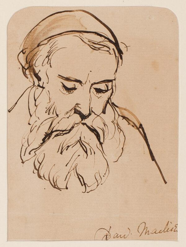 MACLISE Daniel R.A. (1806-1870) - Head of a man.