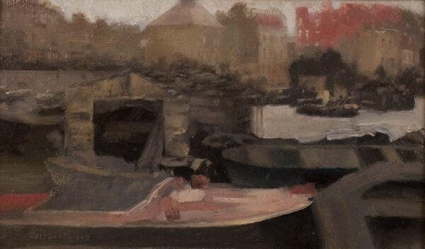 MAITLAND Paul Fordyce (1863-1909) - 'Chelsea shipping'.